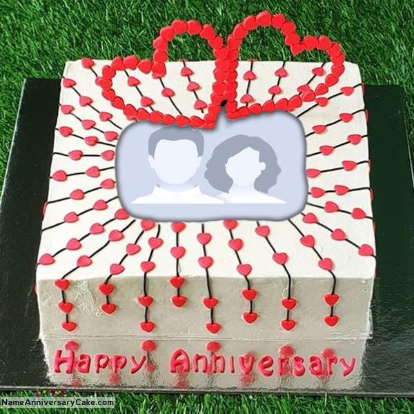 Write Name On Anniversary Cake With Photo